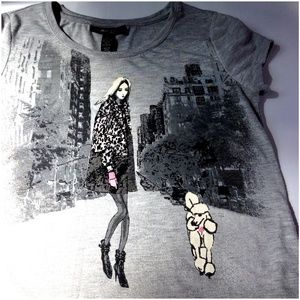 Style & Co. Girl with Poodle Tee